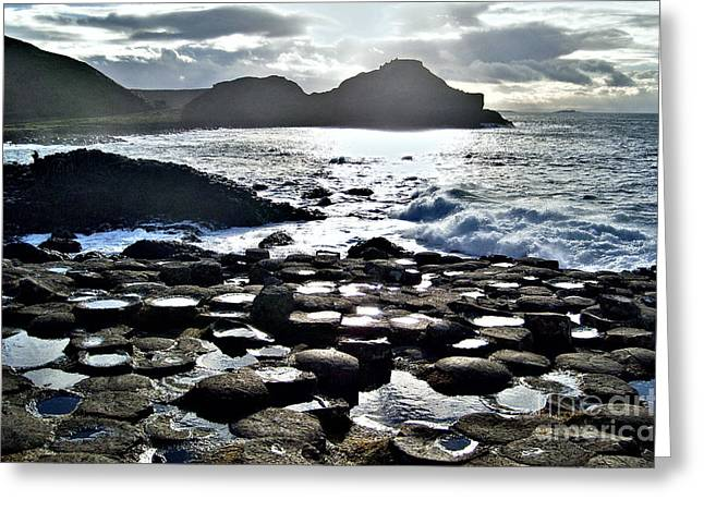 Giant's Causeway Sunset Greeting Card