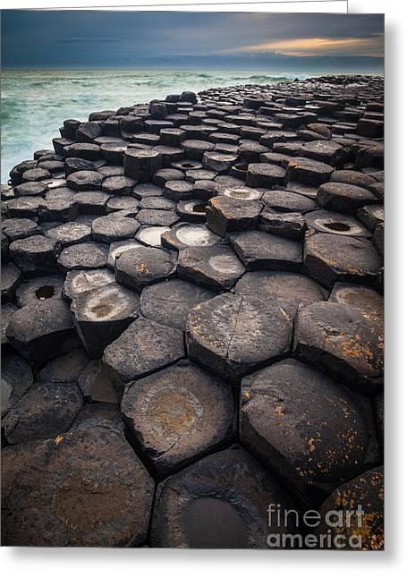 Giant's Causeway Pillars Greeting Card by Inge Johnsson
