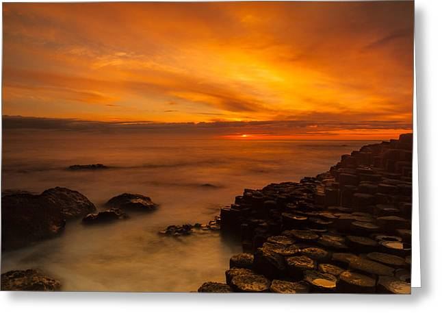 Giants Causeway Sunset Greeting Card by Craig Brown
