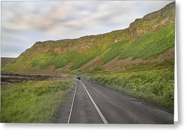 Giant's Causeway Walk The Line Greeting Card by Betsy Knapp
