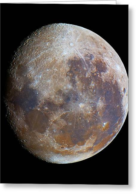 Gibbous Moon Greeting Card by Luis Argerich