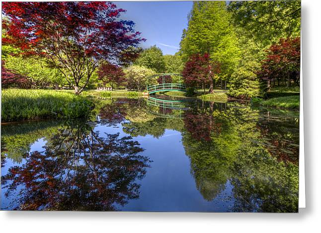 Gibbs Garden Greeting Card by Debra and Dave Vanderlaan