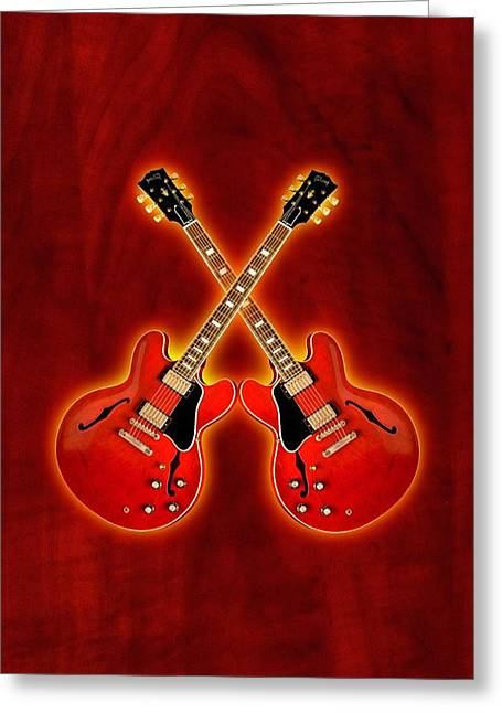 Gibson Es 335 Greeting Card by Doron Mafdoos