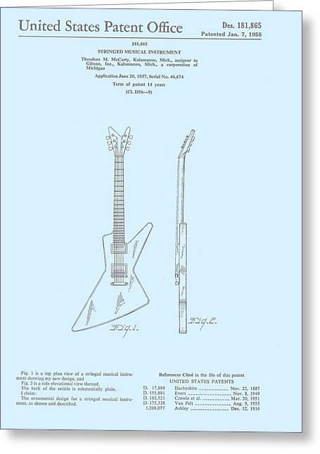Gibson Explorer  Patent 1958 Greeting Card