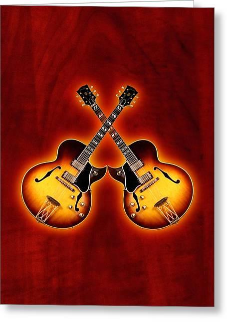 Gibson Jazz Greeting Card by Doron Mafdoos