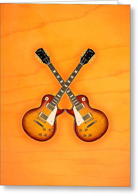 Gibson Les Paul Standard   Greeting Card by Doron Mafdoos