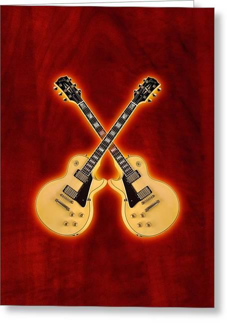Gibson Randy Rhoads Les Paul Custom Greeting Card by Doron Mafdoos