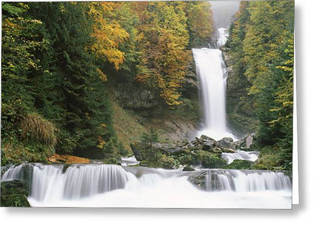 Giessbach Falls On Lake Brienz, Bernese Greeting Card by Panoramic Images