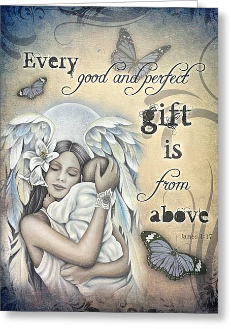 Gift From Above Greeting Card by Jessica Galbreth