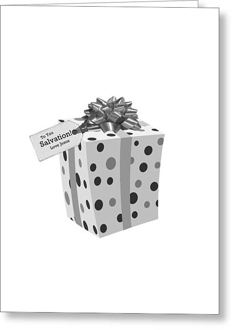 Gift Of Salvation Greeting Card by Stephanie Grooms