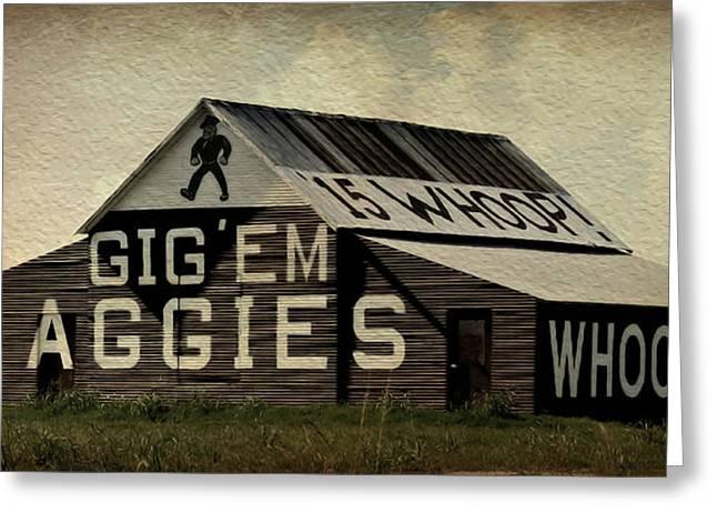 Gig Em Aggies Greeting Card by Stephen Stookey