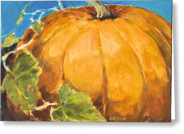Gigantic Pumpkin Greeting Card