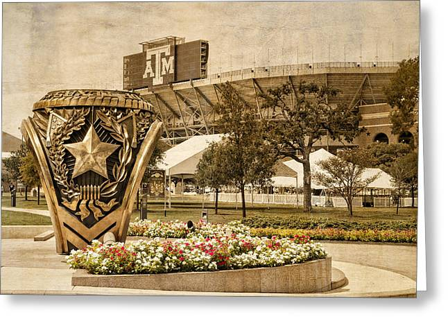 Gig'em Greeting Card by Dave Files