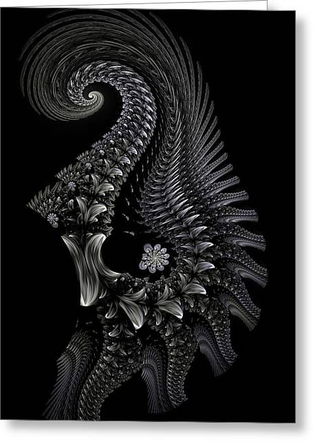 Greeting Card featuring the digital art Gigeresque II by Lea Wiggins