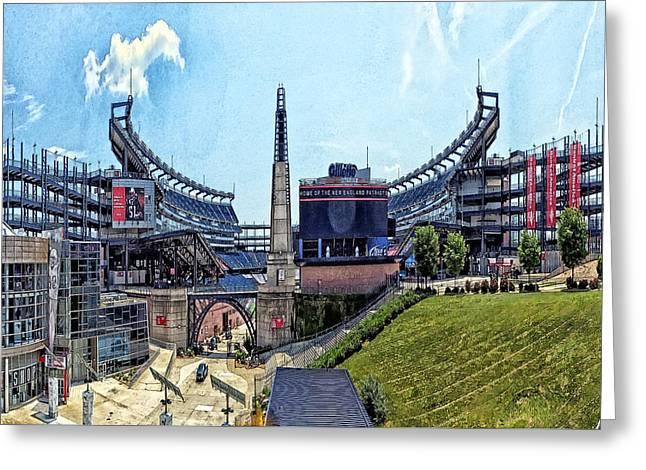 Gillette Stadium  Home Of The New England Patriots Greeting Card by Constantine Gregory