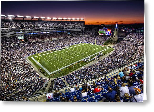 Gillette Stadium Greeting Card