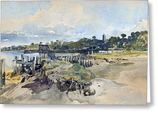 Gillingham Kent From The Medway Greeting Card by William James Muller