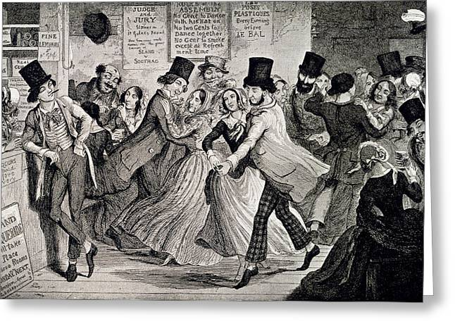 Gin-shop To Dancing-room Greeting Card by British Library