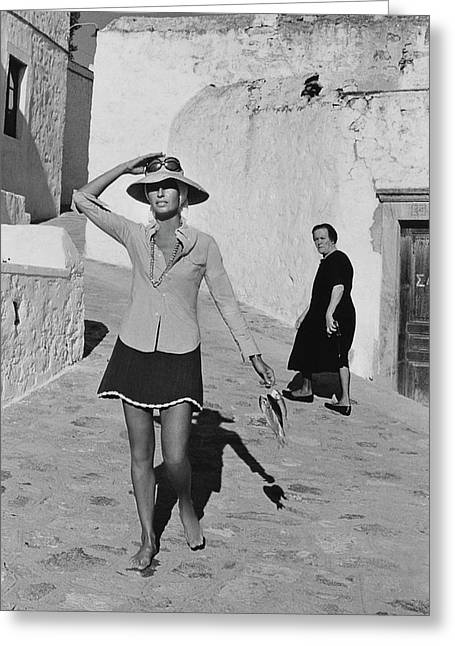 Ginette Camo In Patmos Greeting Card by Henry Clarke
