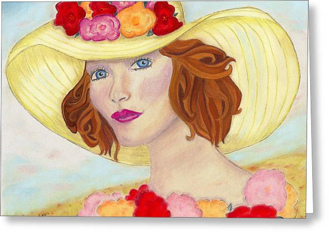 Ginger Greeting Card by Arlene Crafton