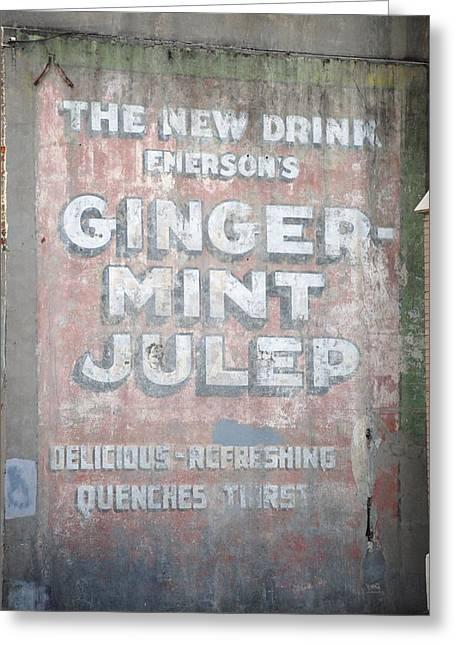 Ginger-mint Julep Greeting Card by Pamela Schreckengost