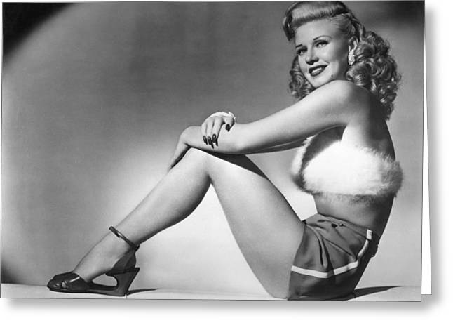 Ginger Rogers In Heartbeat  Greeting Card