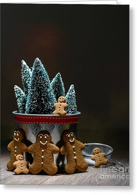 Gingerbread At Christmas Greeting Card
