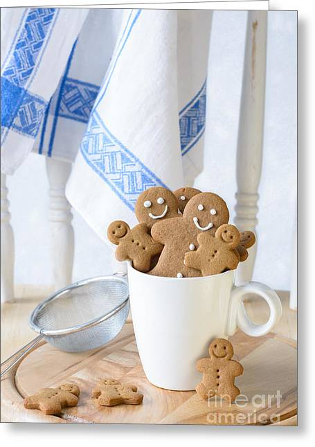 Gingerbread Biscuits Greeting Card by Amanda Elwell