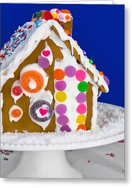 Greeting Card featuring the photograph Gingerbread House by Vizual Studio