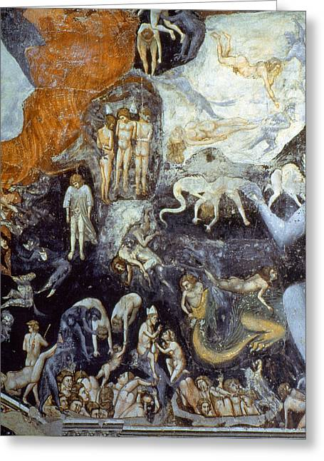 Giotto Detail Of Hell Greeting Card