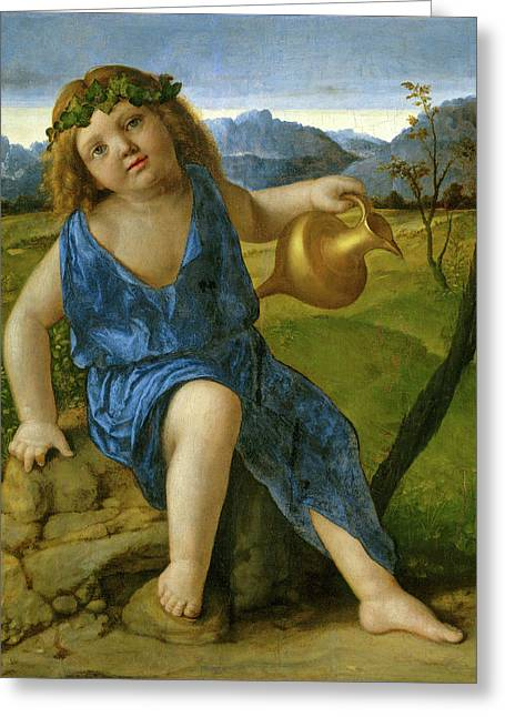 Giovanni Bellini, The Infant Bacchus, Italian Greeting Card by Litz Collection