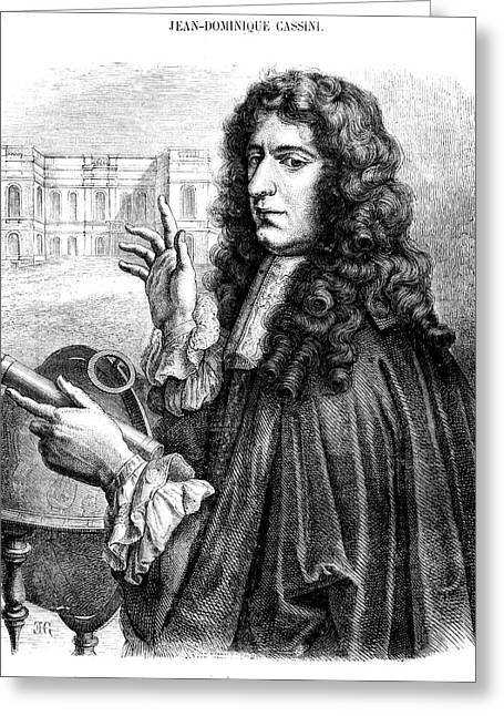 Giovanni Cassini Greeting Card by Collection Abecasis