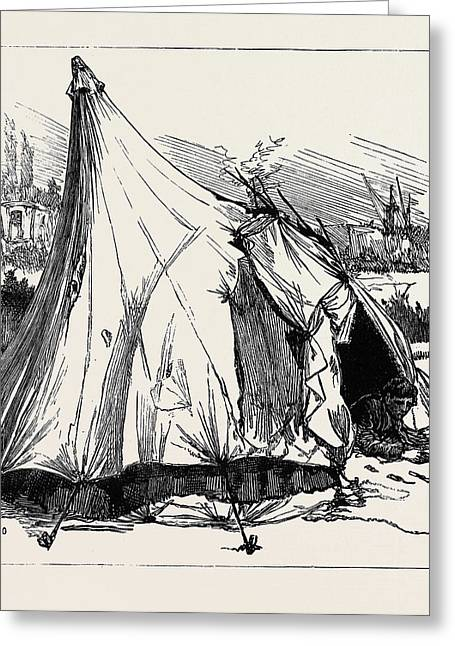 Gipsy Life Round London Tent At Hackney Wick 1880 Greeting Card