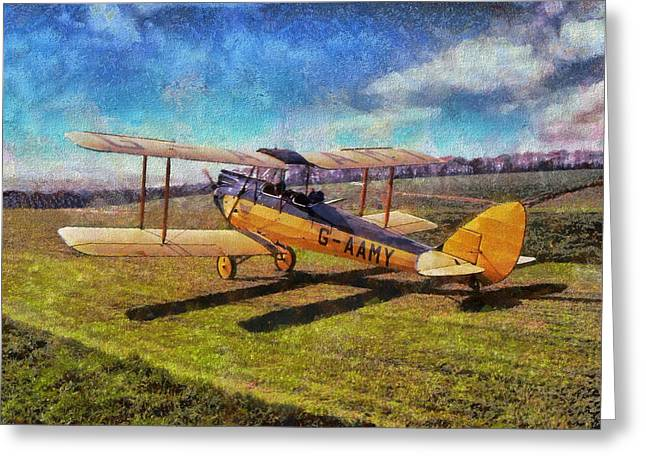 Greeting Card featuring the digital art Gipsy Moth by Paul Gulliver