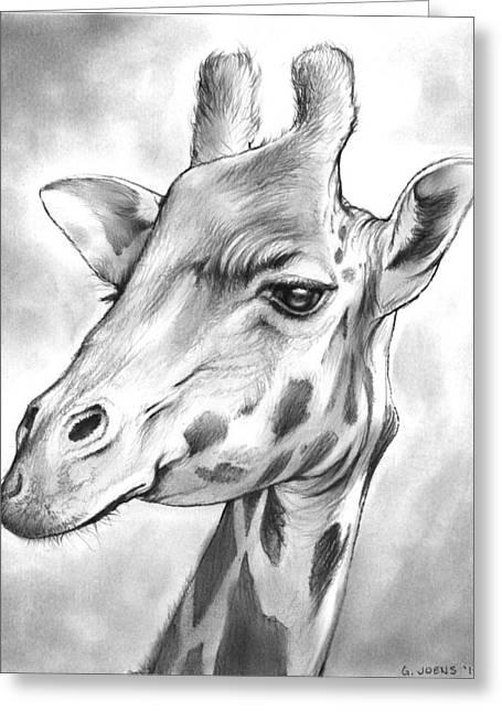 Giraffe Greeting Card by Greg Joens