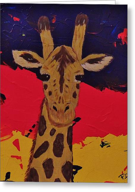 Giraffe In Prime 2 Greeting Card