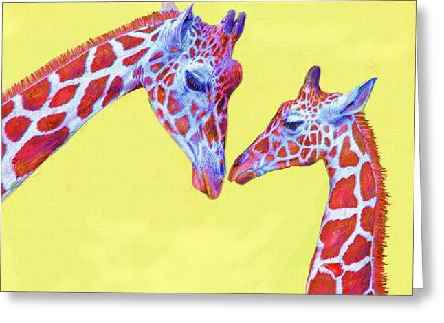 giraffes III Greeting Card