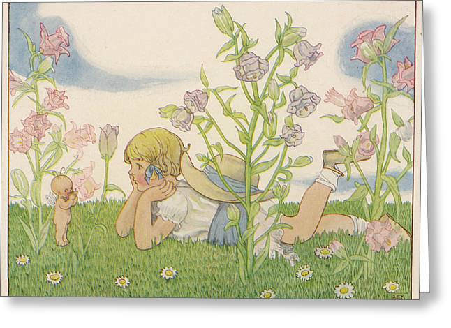 Girl And A Baby Fairy 'would Greeting Card