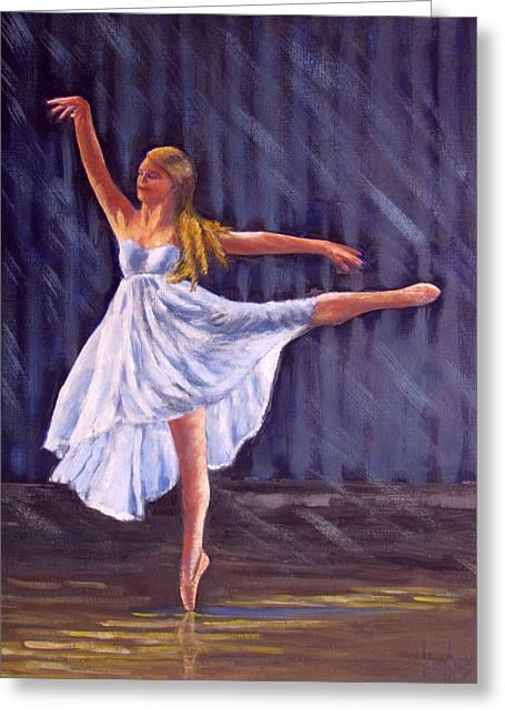 Girl Ballet Dancing Greeting Card