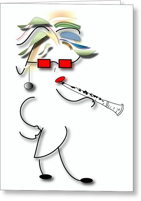 Girl Clarinet Player Greeting Card