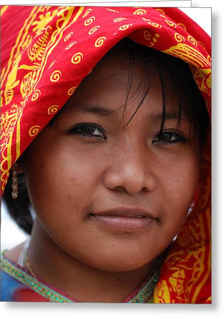Girl From Panama Greeting Card