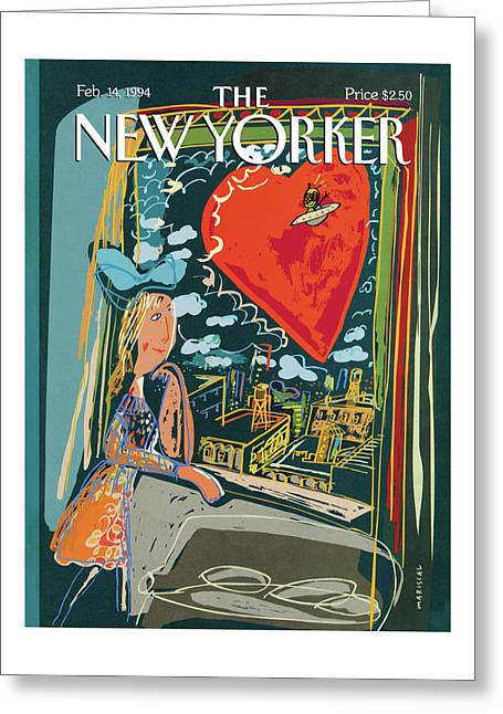 New Yorker February 14th, 1994 Greeting Card