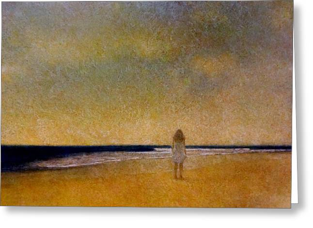 Girl On A Beach Greeting Card