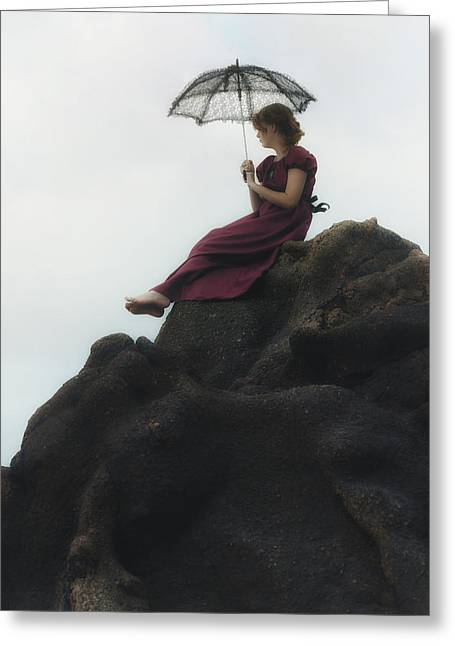 Girl On A Rock Greeting Card