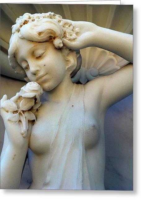 Girl Teen Statue  Greeting Card by Jeff Lowe