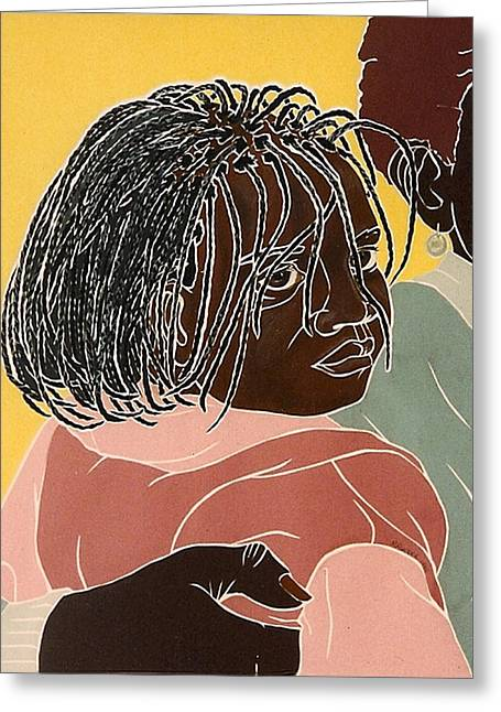 Girl With Braids Greeting Card