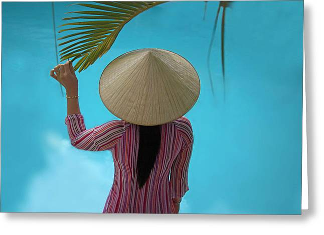 Girl With Conical Hat, Nha Trang Greeting Card