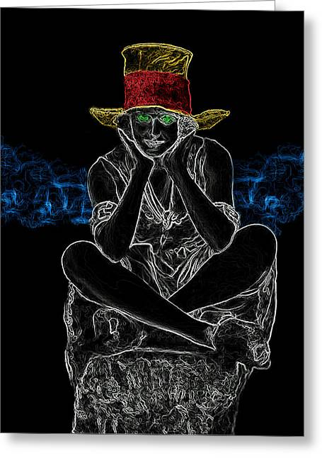 Girl With Hat Man Ray Homage Greeting Card by Brian King
