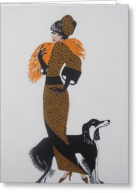 Girl With Orange Fur Greeting Card