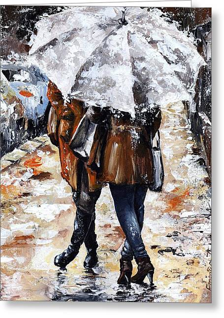 Girlfriends Greeting Card by Emerico Imre Toth
